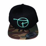 Camo Lid Snap Back Hat Tiffany Blue P