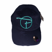 Navy Dad Hat Tiffany Blue P