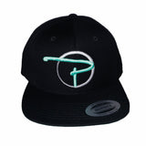 Black Snap Back Hat Tiffany Blue P