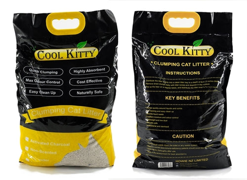 Lemon Scented Clumping Cat Litter 10L (Ball Shaped) - cool-kitty-cat-litter