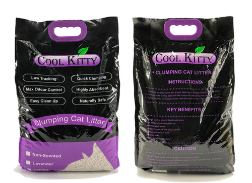 Larvender Scented Clumping Cat Litter 10L (Pellet Shaped) - cool-kitty-cat-litter
