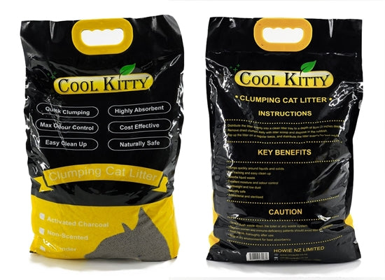 Activated Charcoal Clumping Cat Litter 10L (Ball Shaped) - cool-kitty-cat-litter