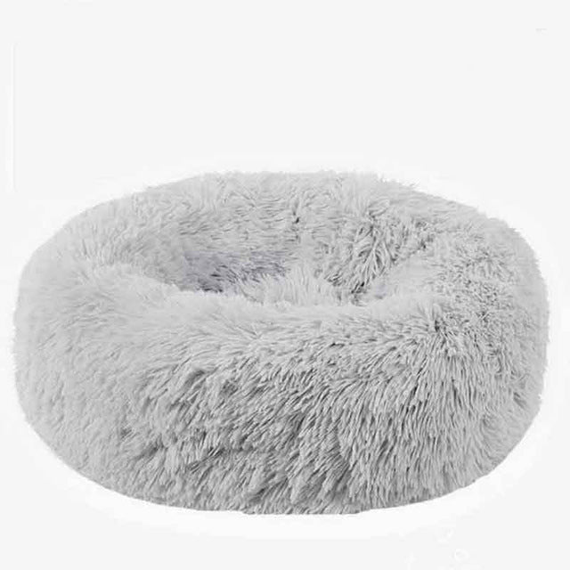 Panier Chat Round Washable Dog Bed Soft Cat House Pet Beds For Dogs House Cat Haustiere Chat Panier Long Plush Dog Kennel