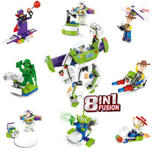 Load image into Gallery viewer, 4PCS Toy story 4 Amusement Park Block Set  Woody Buzz Lightyear building bricks Kids toys  no box