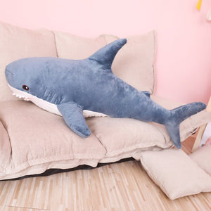 80/100cm Big Size Funny Soft Bite Shark Plush Toy Pillow Appease Cushion Gift For Children