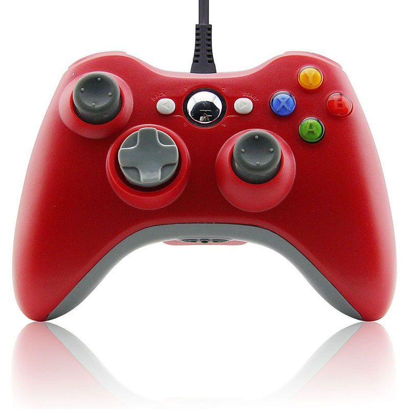 XBOX 360 WIRED CONTROLLER RED (PC COMPATIBLE) (GENERIC)