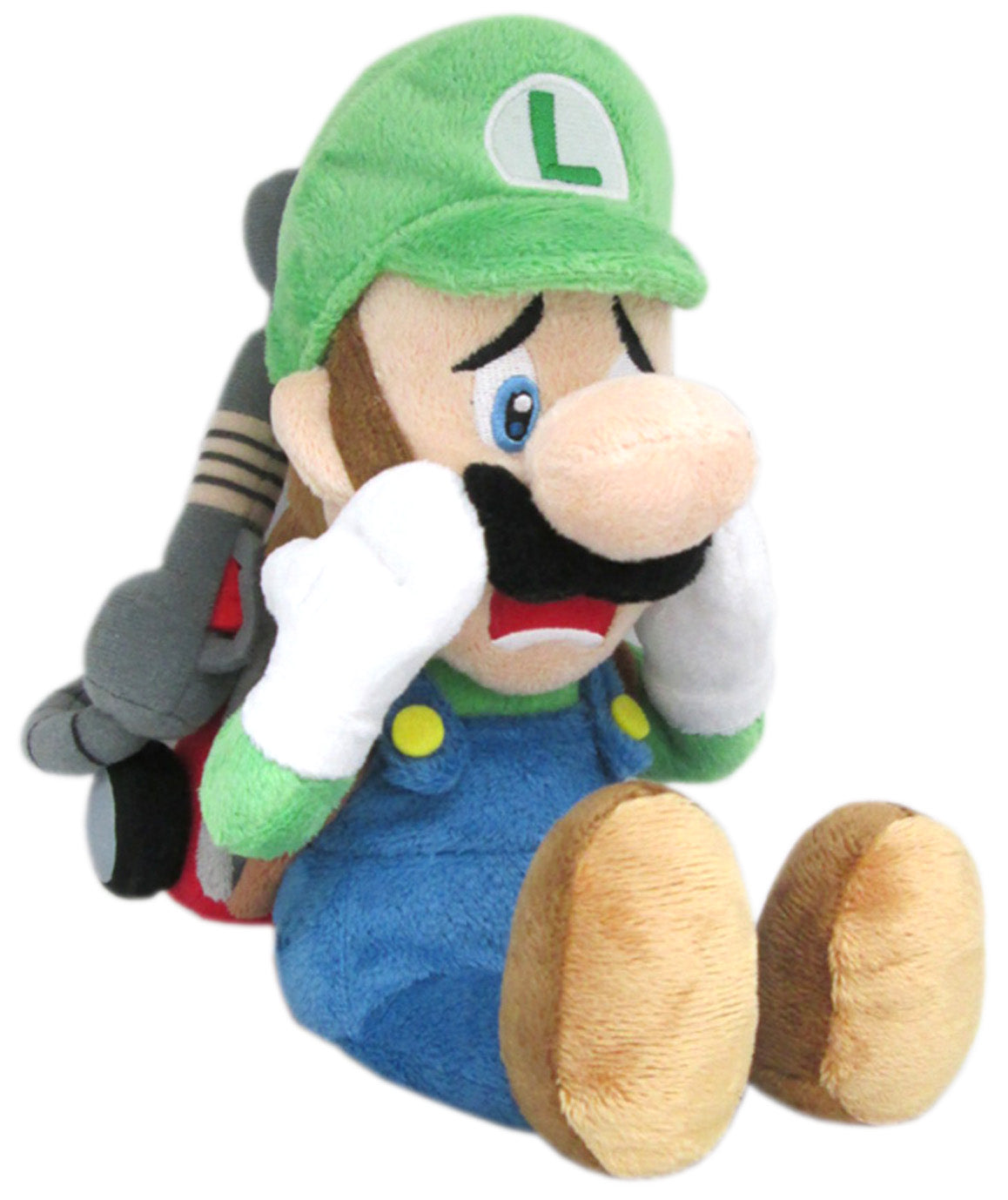 Little Buddy Luigi's Mansion Scared Luigi with Strobulb Plush 10""
