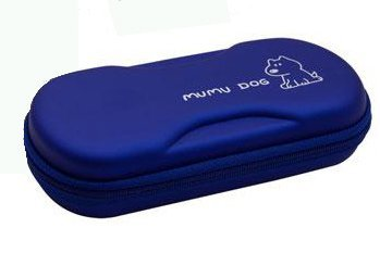 Carry Case PSP 2000 3000 Mumu Dog - Blue [video game]