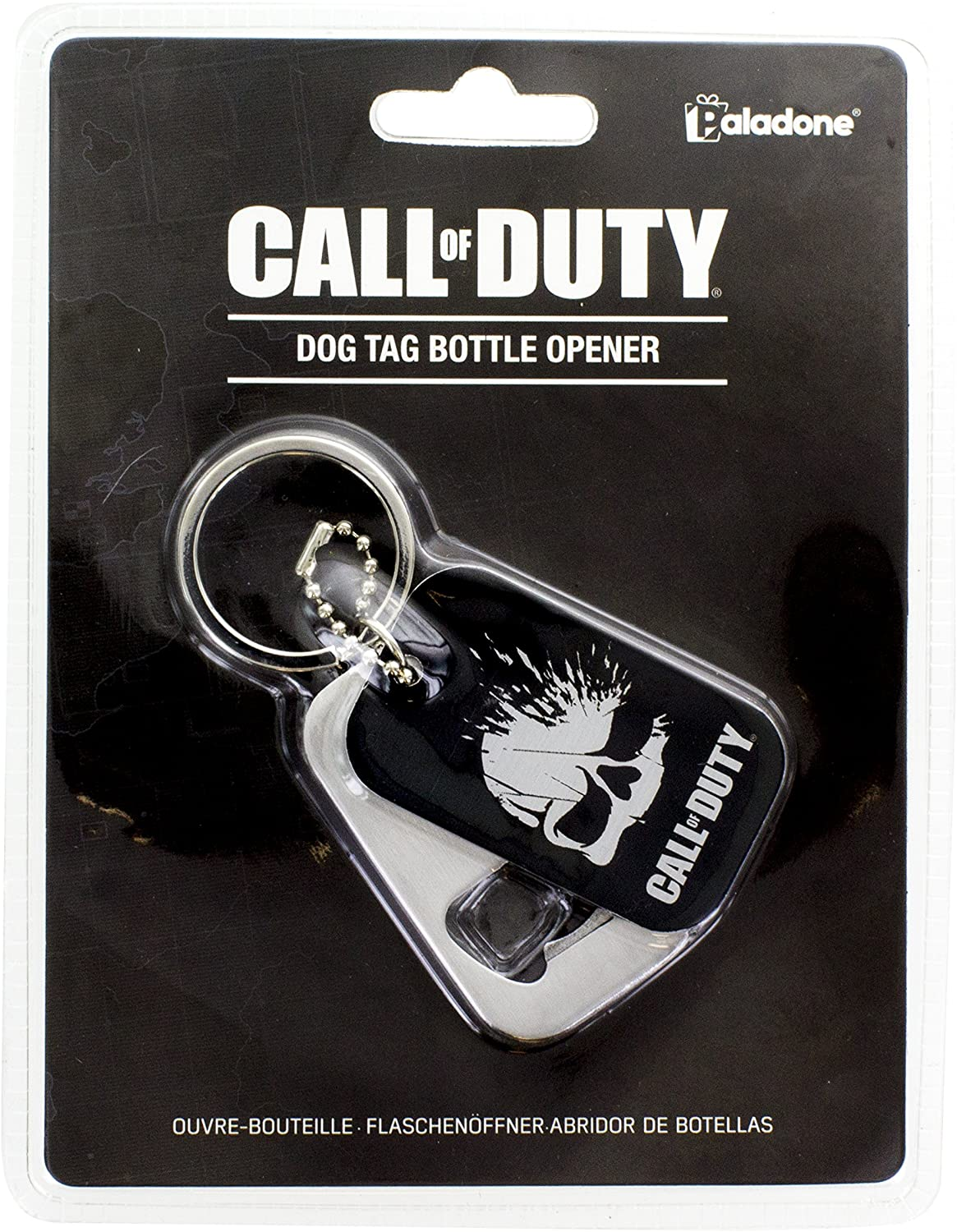 KEYCHAIN CALL OF DUTY DOG TAG BOTTLE OPENER