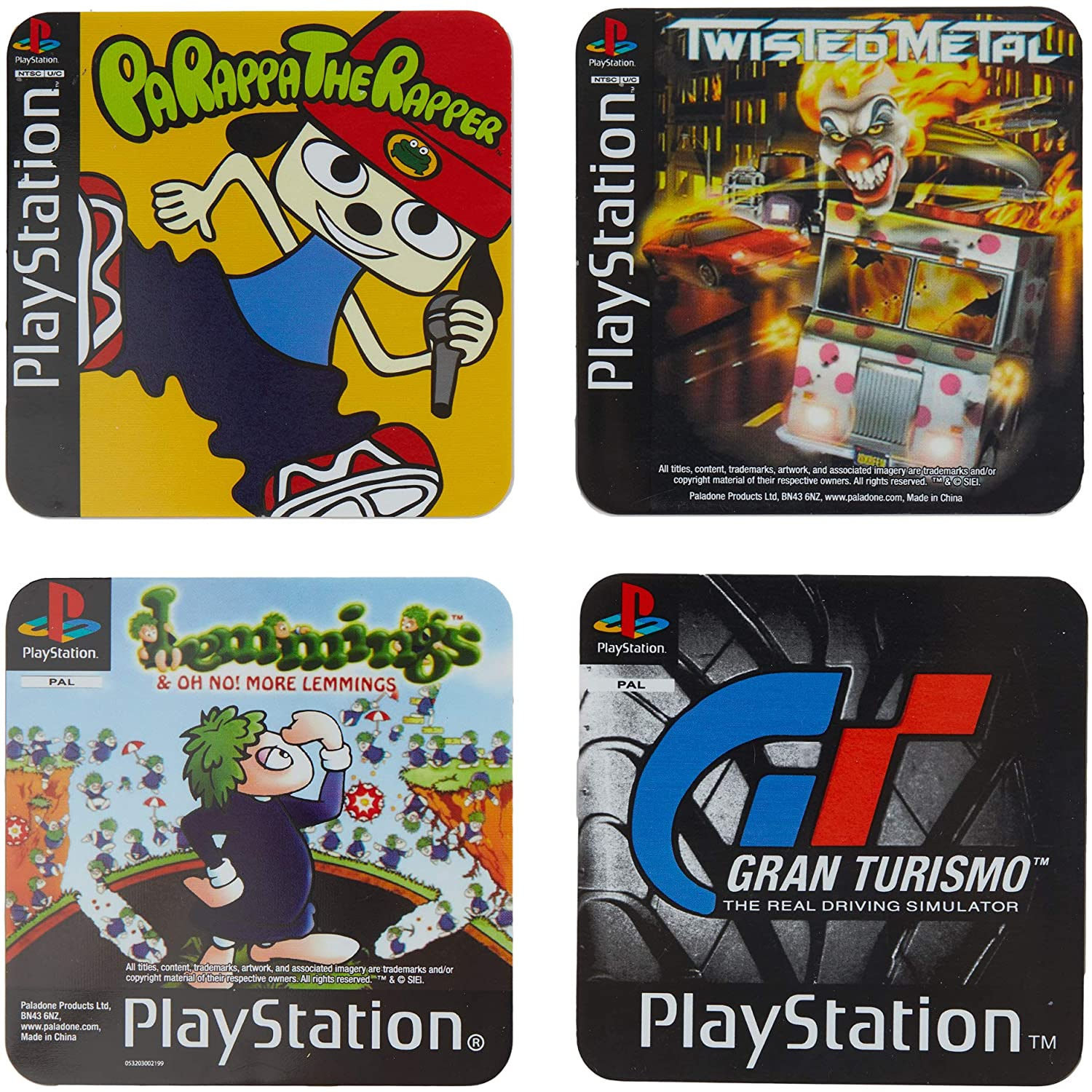 COASTERS PLAYSTATION GAME COASTERS (4 PACK)