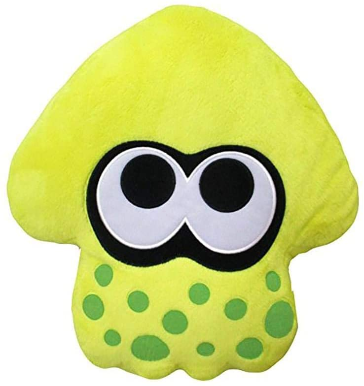 PLUSH SPLATOON 2 CUSHION (NEON YELLOW)