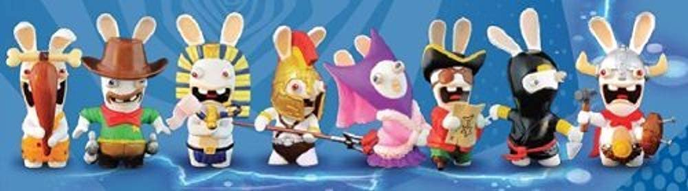 Raving Rabbids Travel in Time Complete Figure Set (includes 8 figures)
