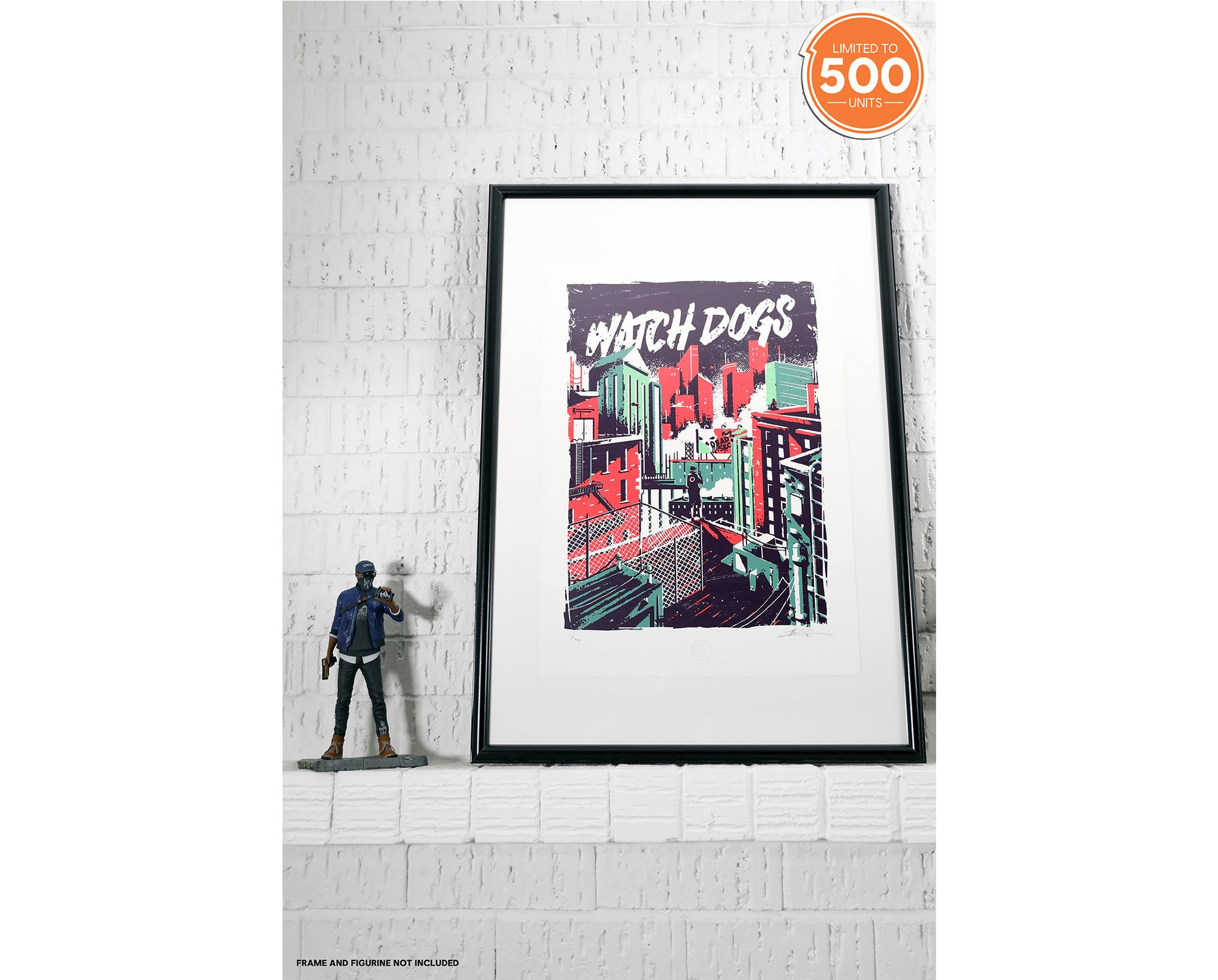 WATCH DOGS PRINT - OPEN WORLDS BY MARIE BERGERON