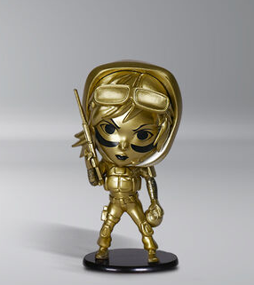 "FIGURINE - SIX COLLECTION - VALKYRIE 4"" GOLD CHIBI"