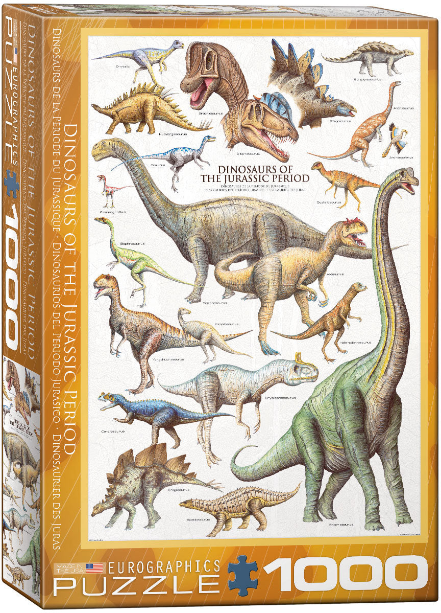 EuroGraphics Dinosaurs of the Jurassic Period 1000 pcs Puzzle