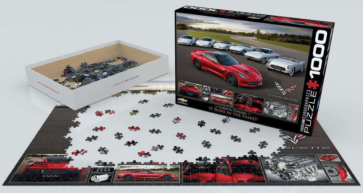 EuroGraphics 2014 Corvette Stingray It Runs in the Family 1000 pcs Puzzle