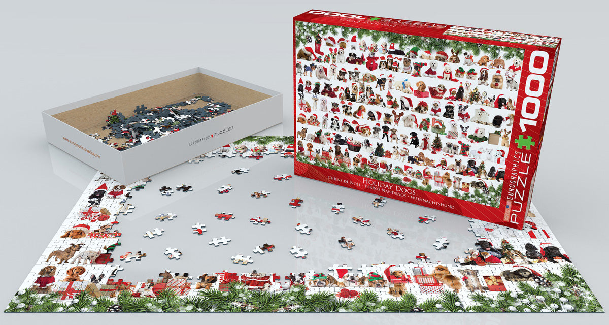 EuroGraphics Holiday Dogs 1000 pcs Puzzle