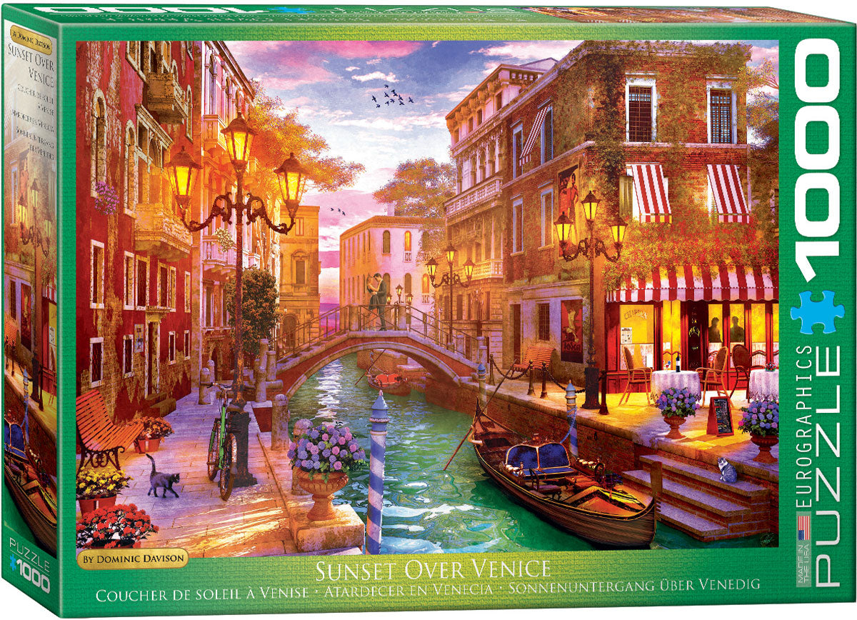 EuroGraphics Sunset Over Venice by Dominic Davidson - 1000 pcs Puzzle