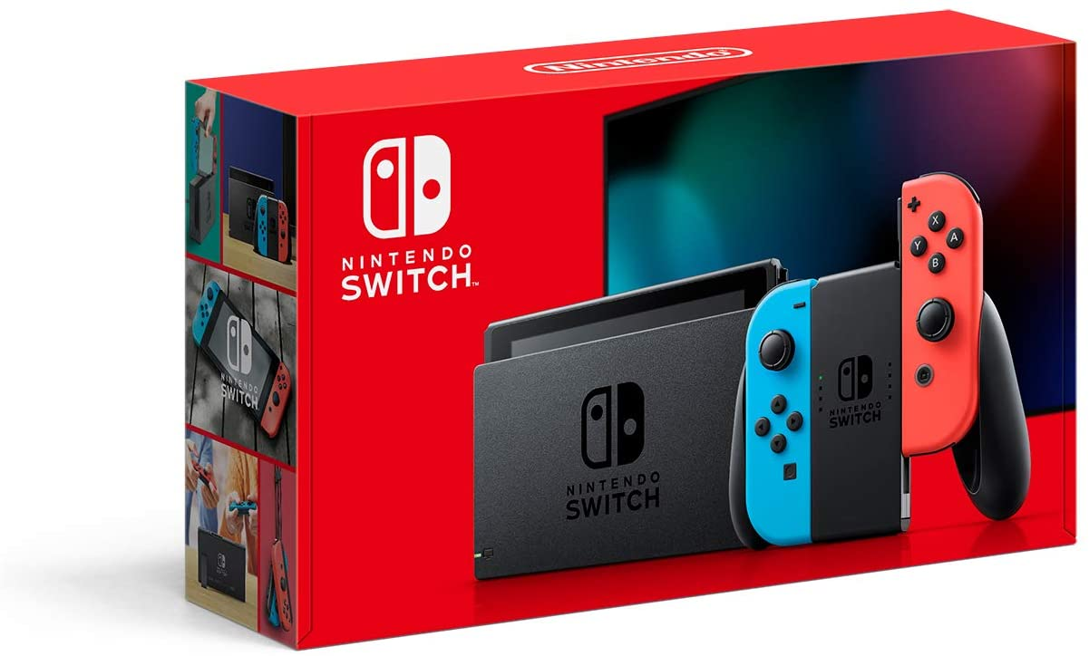 NINTENDO SWITCH CONSOLE BLUE AND RED