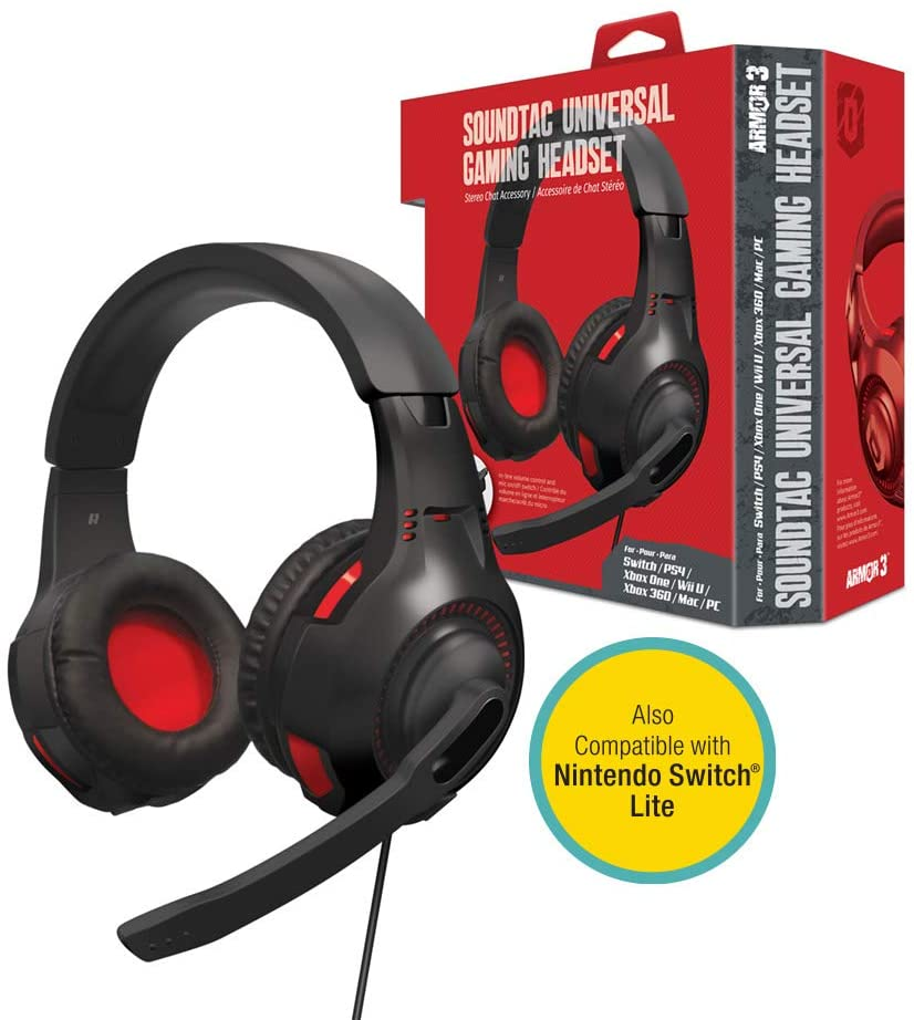 "HEADSET ""SOUNDTAC"" XBOX1/PS4/SWITCH/WIIU/XBOX360/PC/MAC (ARMOR3)"