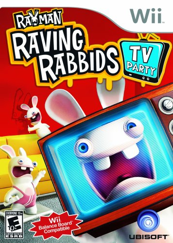 Wii Rayman Raving Rabbids TV Party Video Game T797