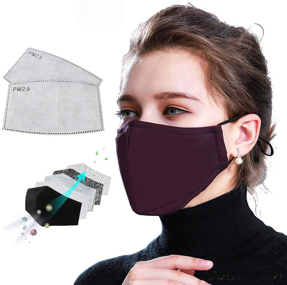 FACE MASK COTTON REUSABLE INCLUDES 2 PM2.5 FILTERS