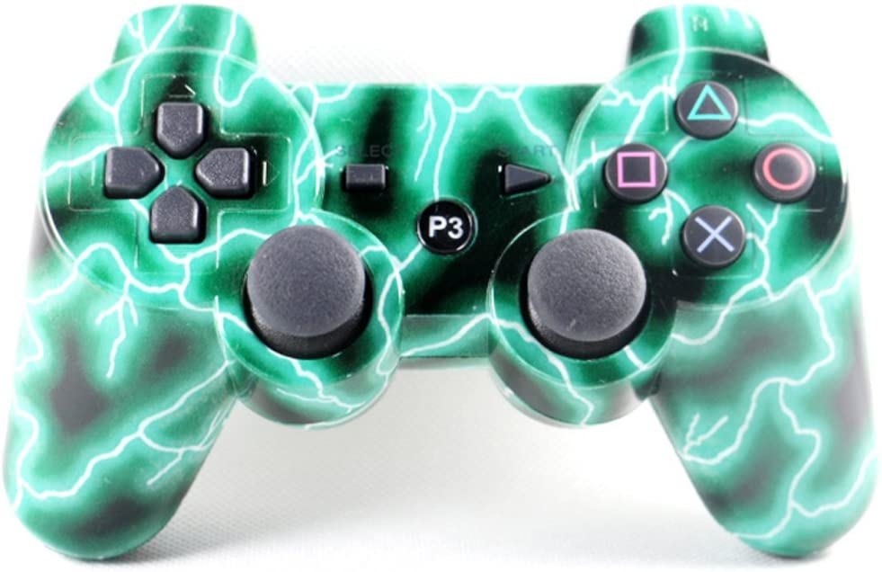 PS3 WIRELESS BLUETOOTH CONTROLLER LIGHTNING GREEN (GENERIC)
