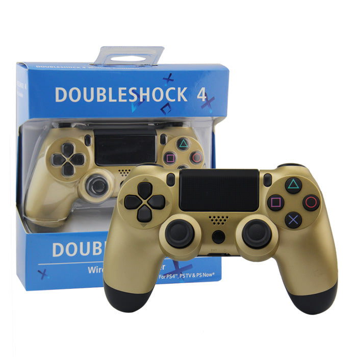CONTROLLER PS4 WIRELESS BLUETOOTH GOLD (INCL CHARGE CABLE)(GENERIC)