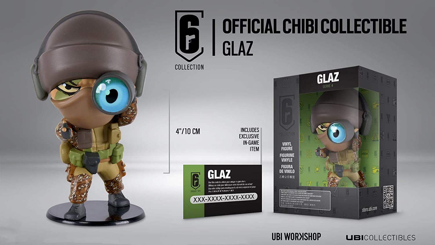 Rainbow Six Siege Collection Figurine Series 4 Glaz Chibi