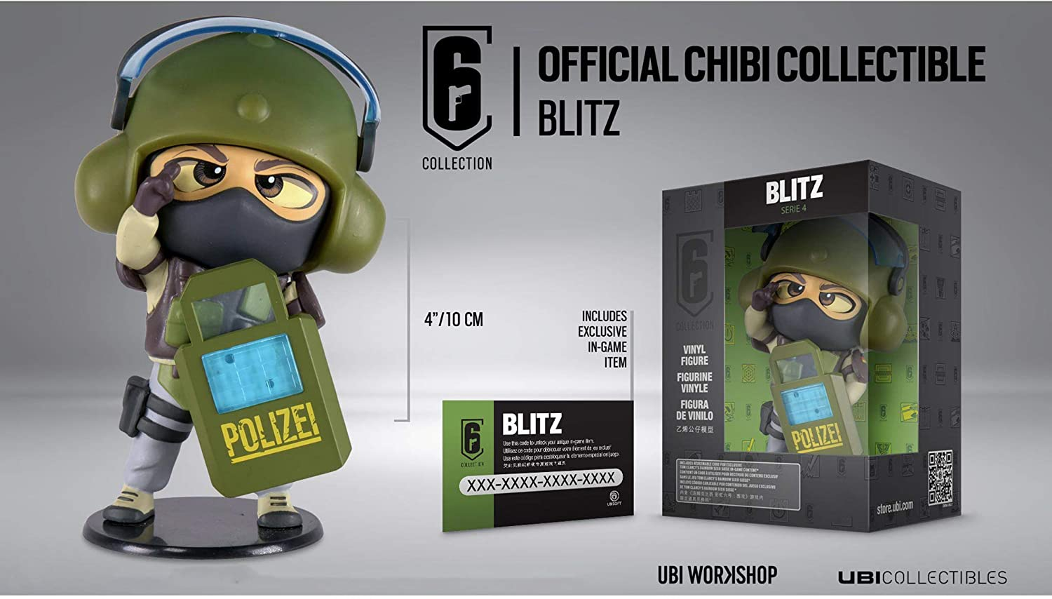 Rainbow Six Siege Collection Figurine Series 4 Blitz Chibi