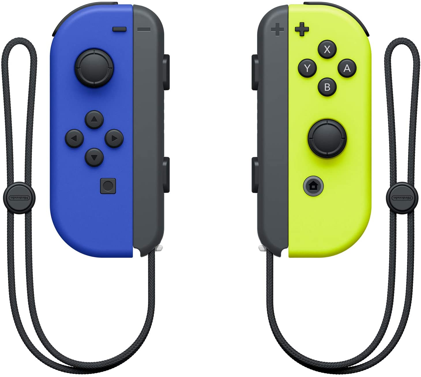SWITCH JOY-CON CONTROLLER BLUE (L) & NEON YELLOW (R) (NINTENDO)