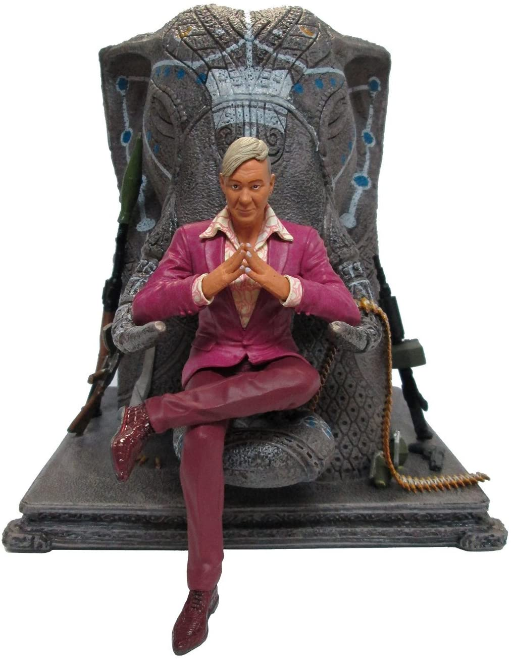 "Ubisoft Far Cry 4 Pagan Min 7.9"" Figurine on Elephant Throne"