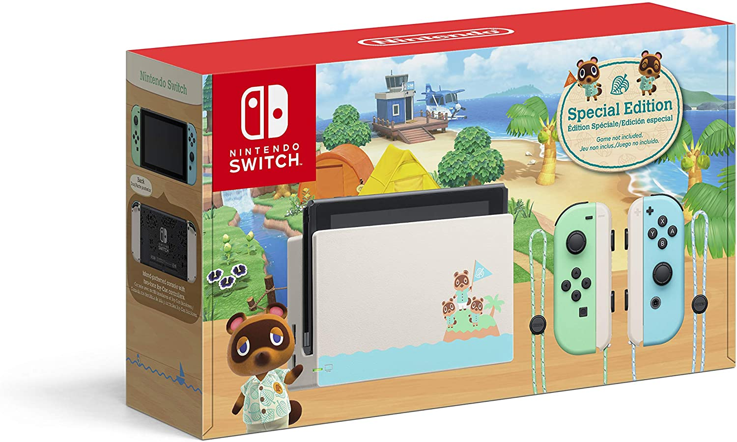 Nintendo Switch Console - Animal Crossing: New Horizons Edition
