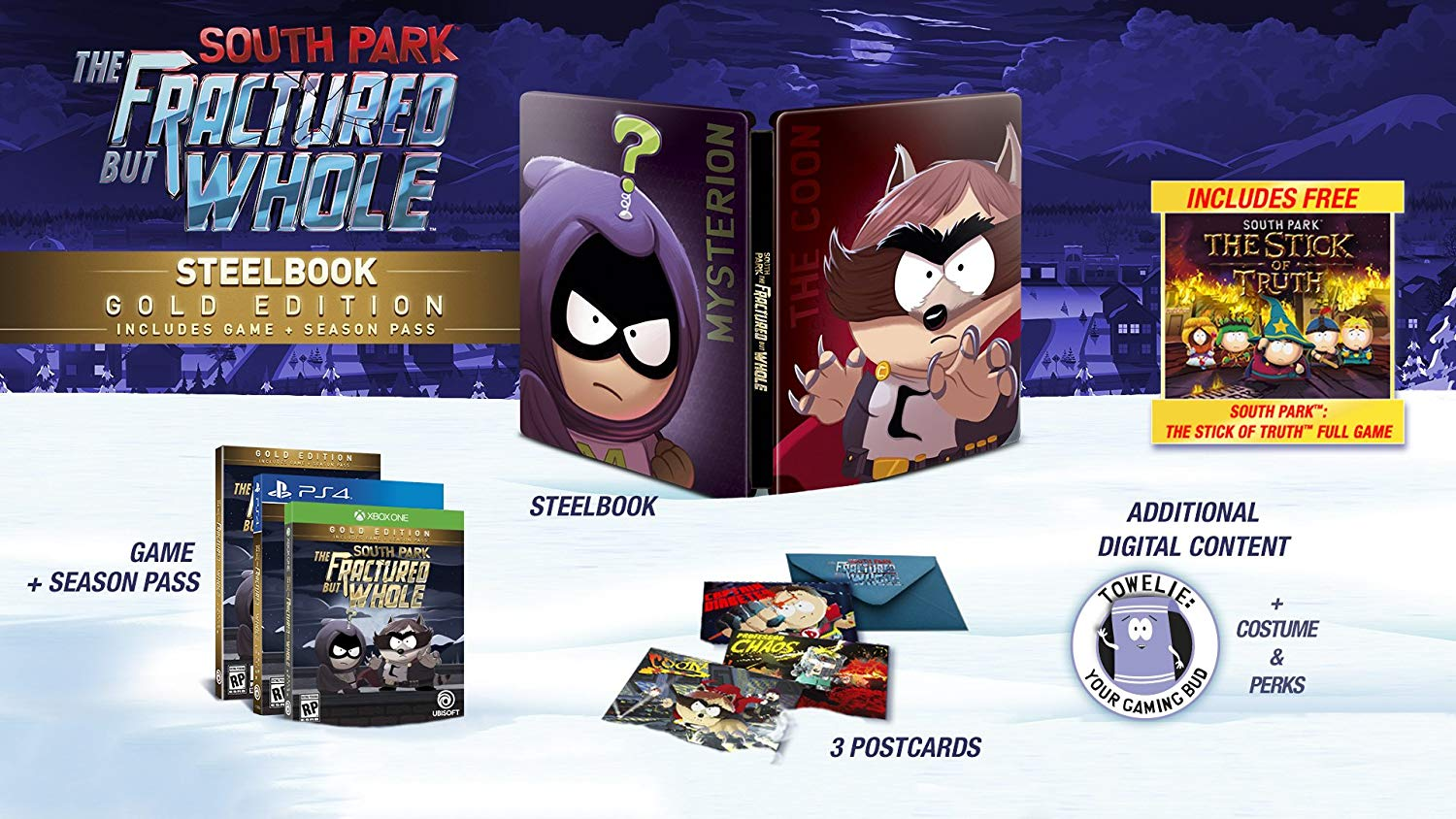 South Park: The Fractured but Whole Steelbook Gold Edition (Includes Season Pass subscription) - PC [video game]