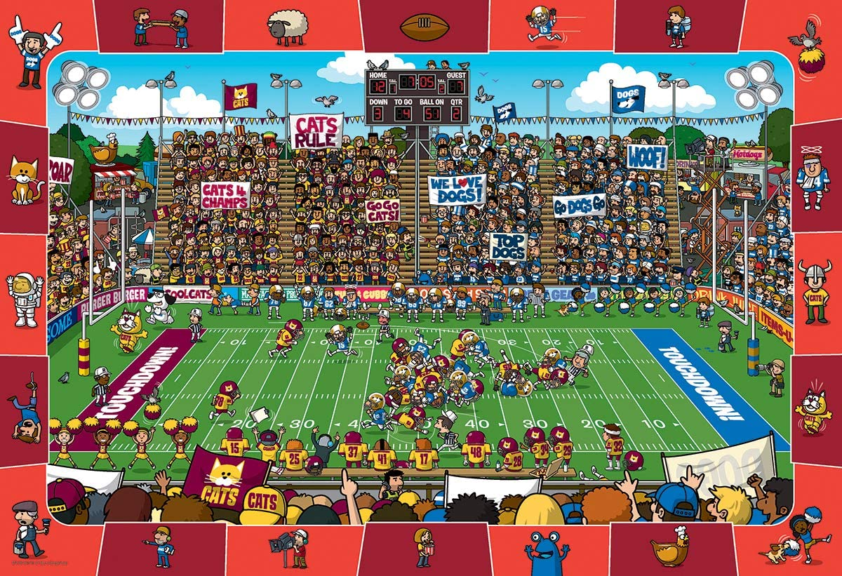 EuroGraphics Football Spot & Find Puzzle (100-Piece)