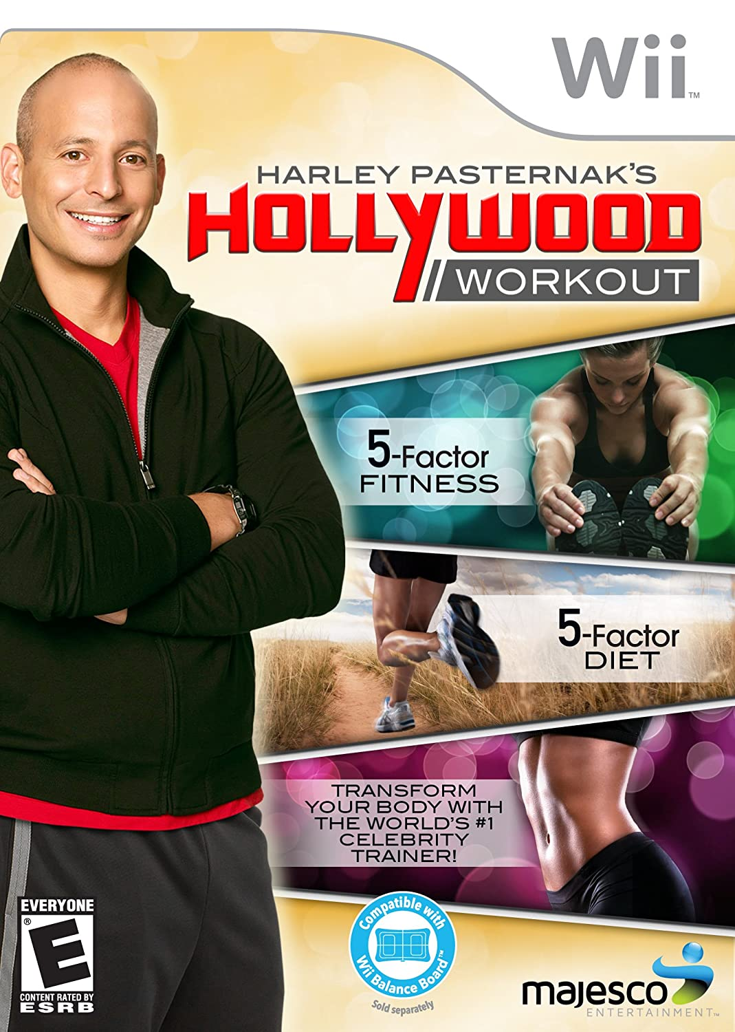 Nintendo Wii Harley Pasternak Hollywood Workout Video Game T874
