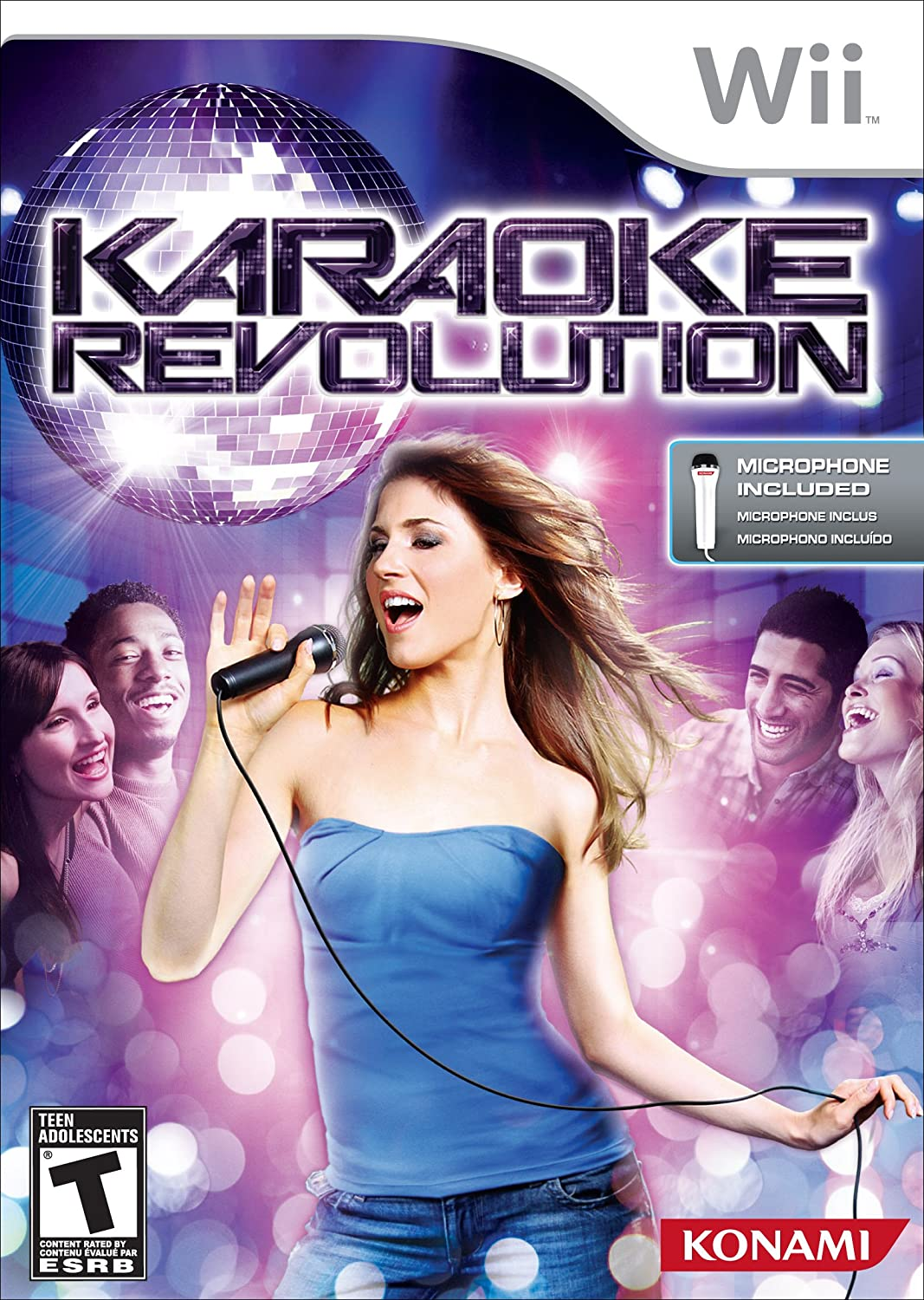 Wii Karaoke Revolution Video Game With Microphone T846