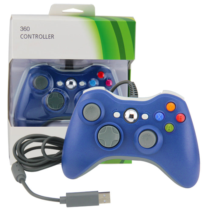 XBOX 360 WIRED CONTROLLER BLUE (PC COMPATIBLE) (GENERIC)