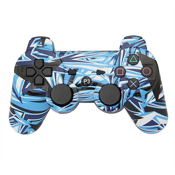 PS3 WIRELESS BLUETOOTH CONTROLLER BLUE/WHITE ABSTRACT (GENERIC)