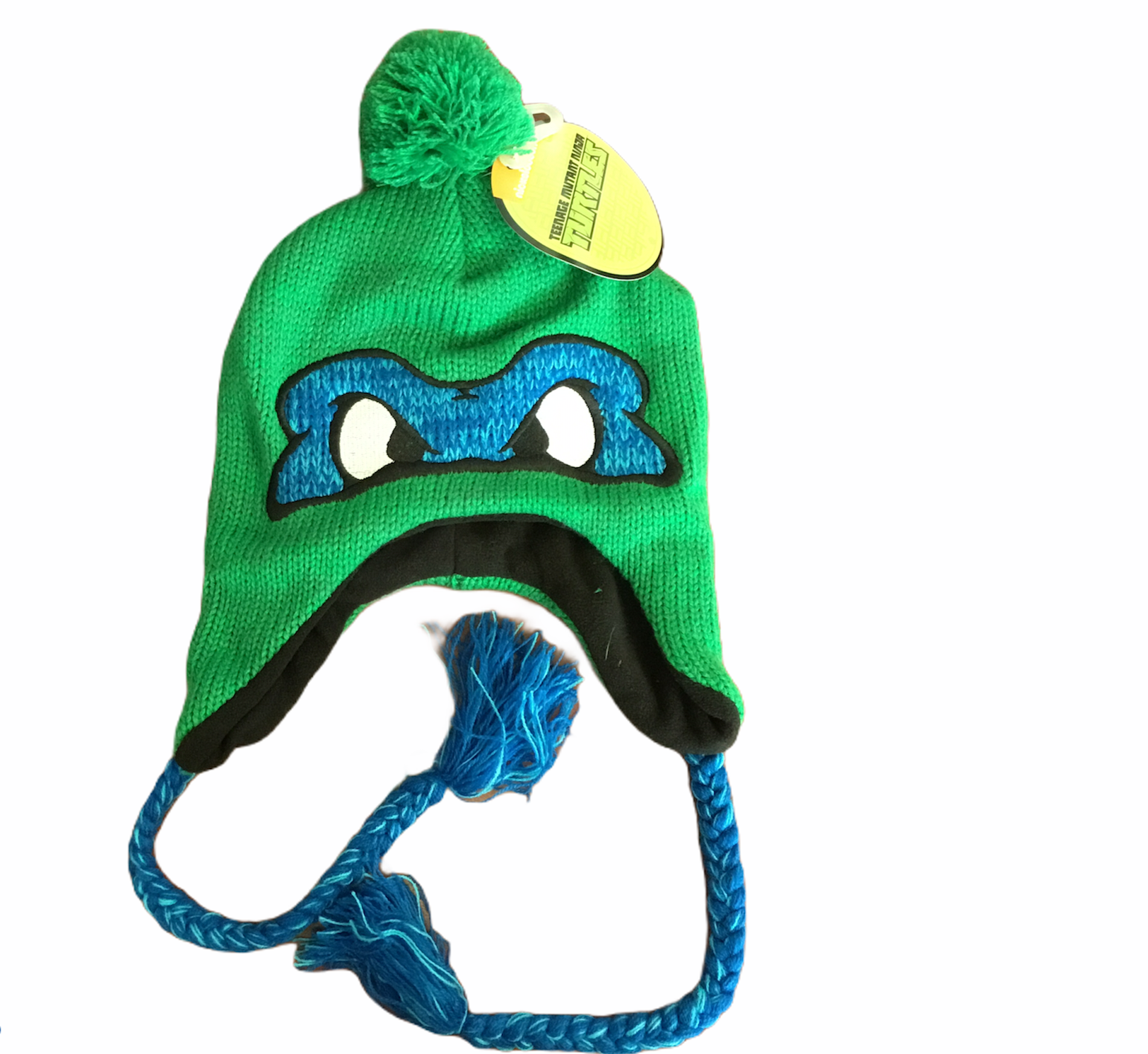 Ninja Turtles Leonardo Hat Green One Size Fits All Tuque