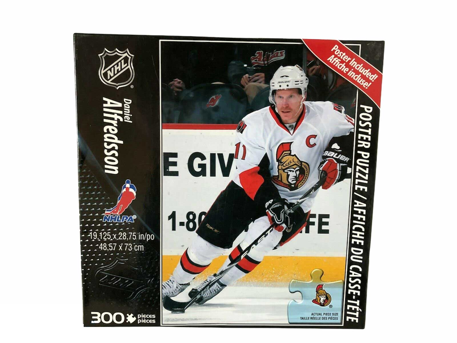 Collectible NHL 2009 Puzzle Daniel Alfredsson (250 pcs) Poster Included