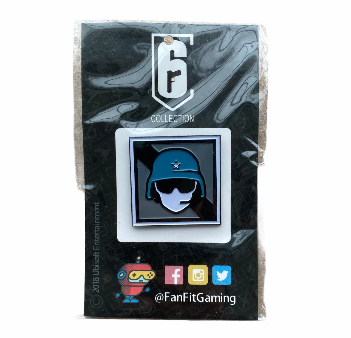 Rainbow Six Reverse Blue Operator Collector Pin