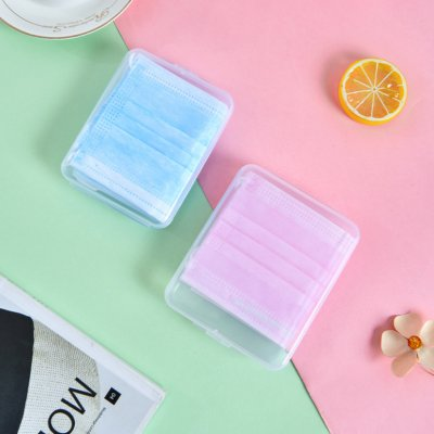 Portable Disposable Face Masks Container Disposable Mask Storage Box Storage Organizer (SMALL) 11.5CM