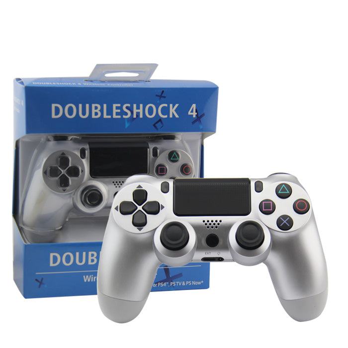 CONTROLLER PS4 WIRELESS BLUETOOTH SILVER DUAL COLOR (INCL CHARGE CABLE)(GENERIC)