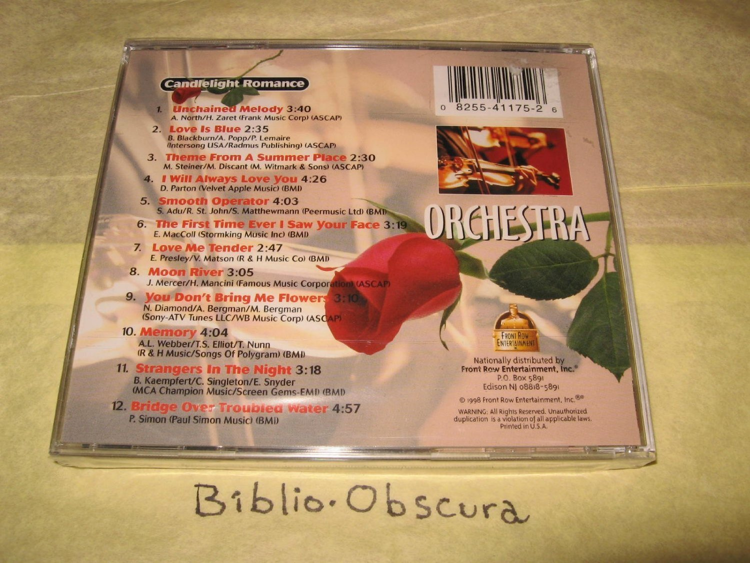 Candlelight Romance - Orchestra [Audio CD] various artists