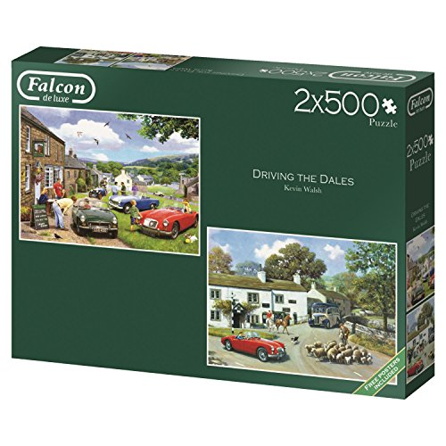 Falcon Deluxe Driving In The Dales Jigsaw Puzzle (2 x 500 Pieces)