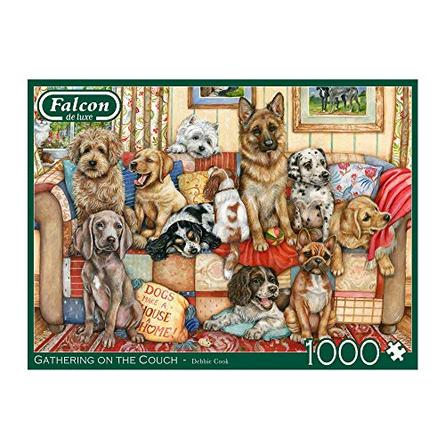 Falcon Deluxe Gathering on The Couch Jigsaw Puzzle (1000 Pieces)