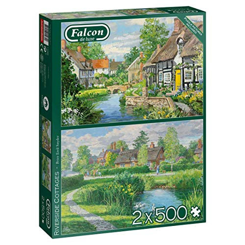 Falcon Deluxe Riverside Cottages Jigsaw Puzzles (2 x 500 Pieces)