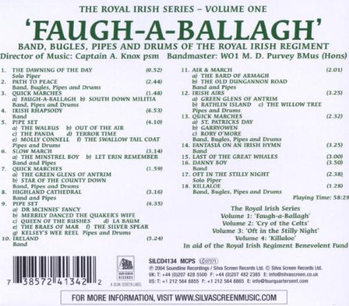 Faugh-a-Ballagh (Royal Irish Series) [Audio CD] Band Bugles Pipes & Drums of the Roy