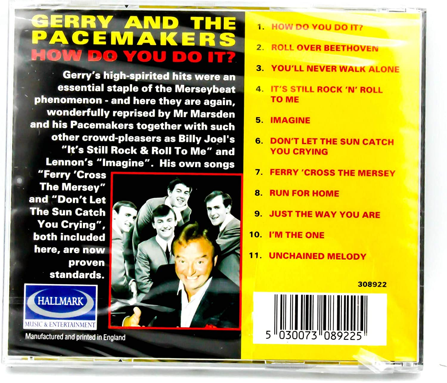 How Do You Do It? [Audio CD] Gerry & The Pacemakers